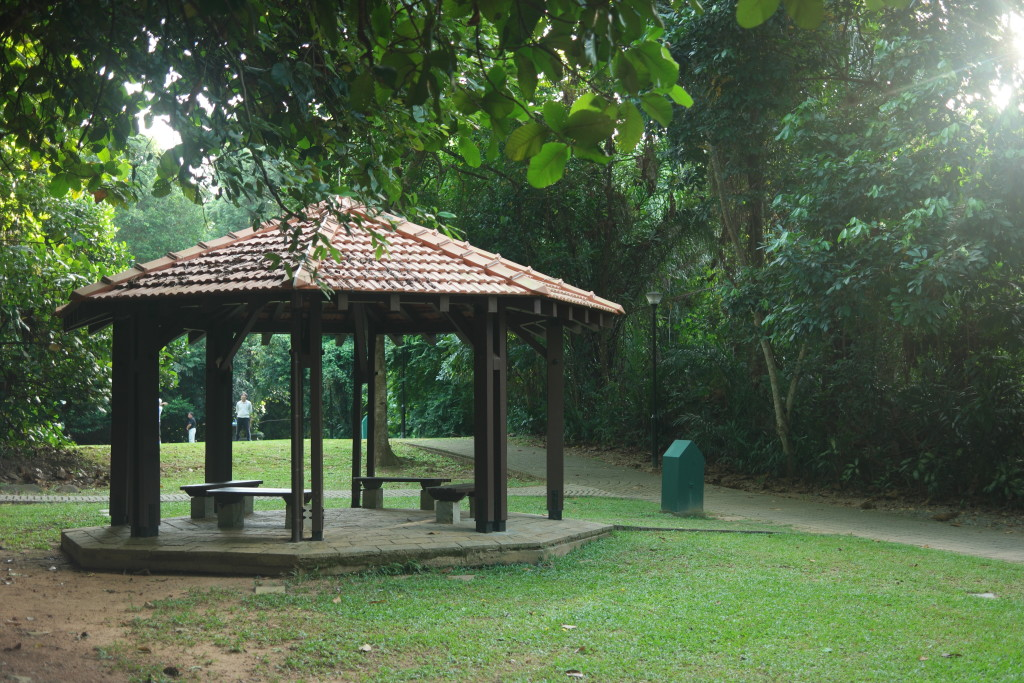 Pavilion near the Pond Plaza