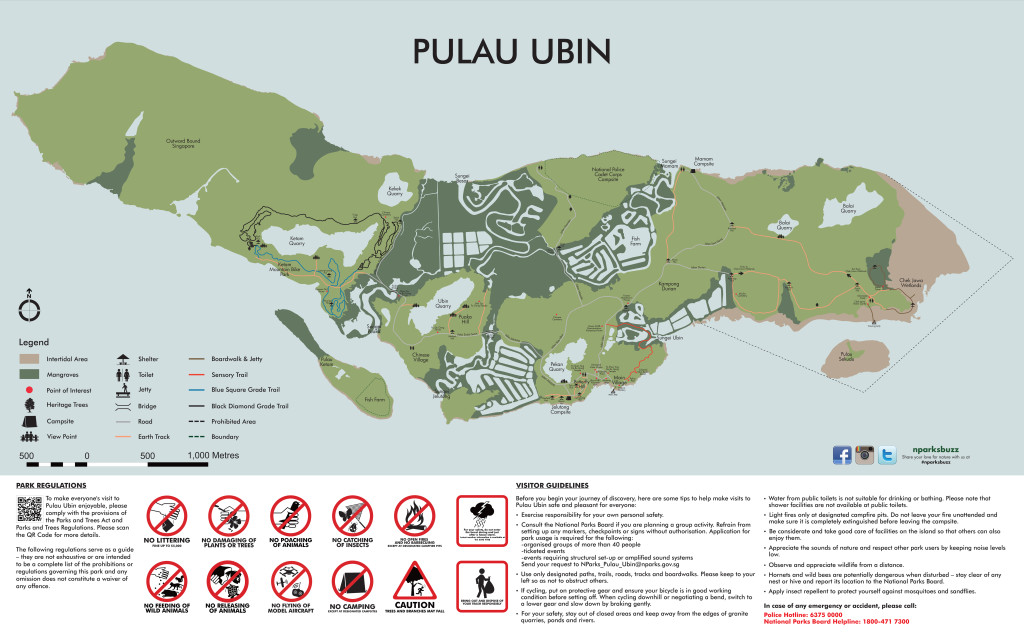 Pulau Ubin Map from Nparks.gov.sg