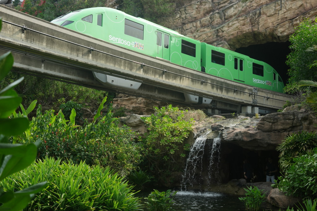 Skytrain at Sentosa Island (Sentosa Express)