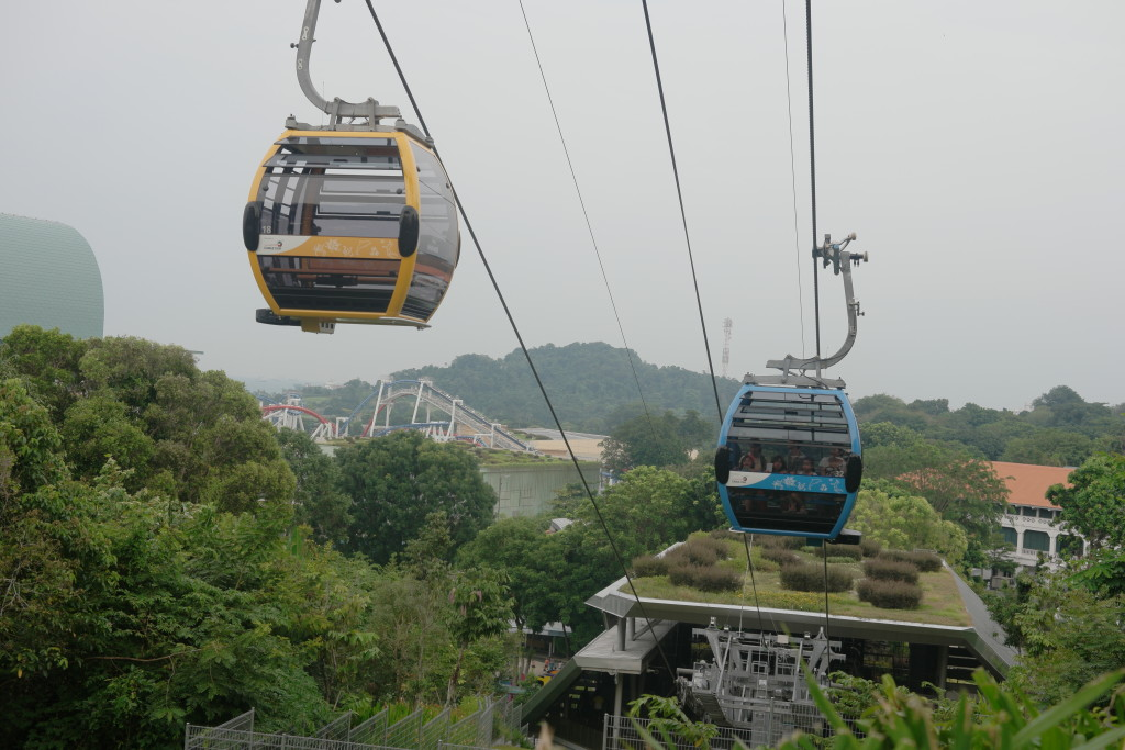 Up close with the cable cars from Imbiah Lookout