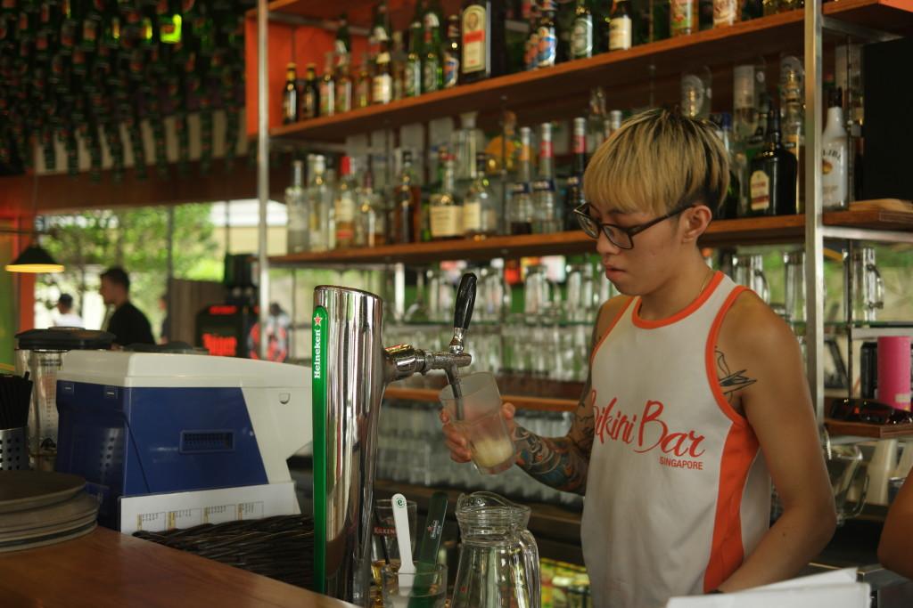 Bikini Bar bartender.