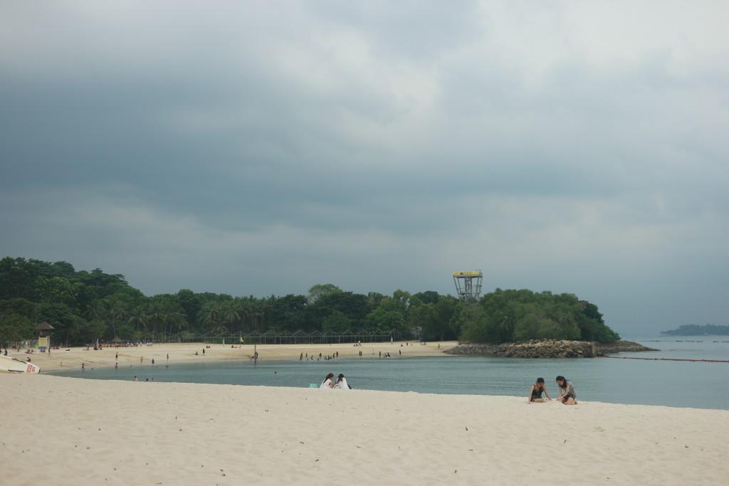 Vast white sandy beach at Palawan