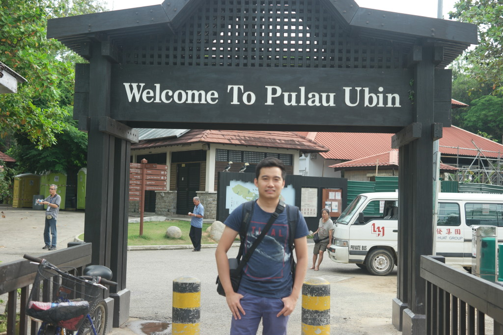Me at Pulau Ubin entrance