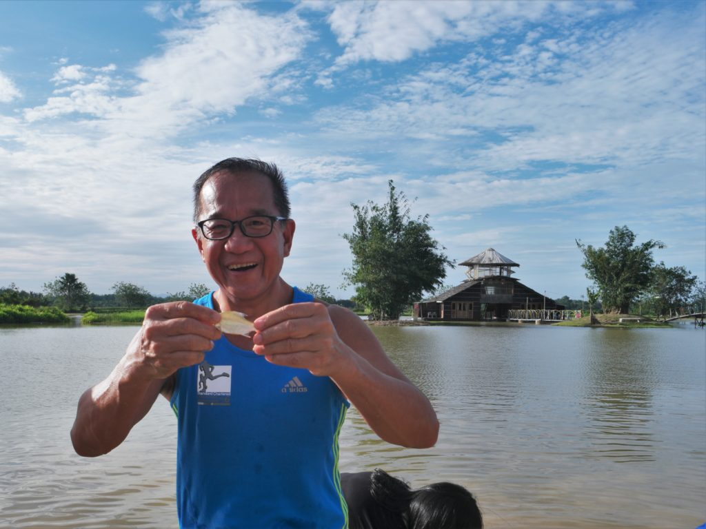Mr. Pao got himself a small fish