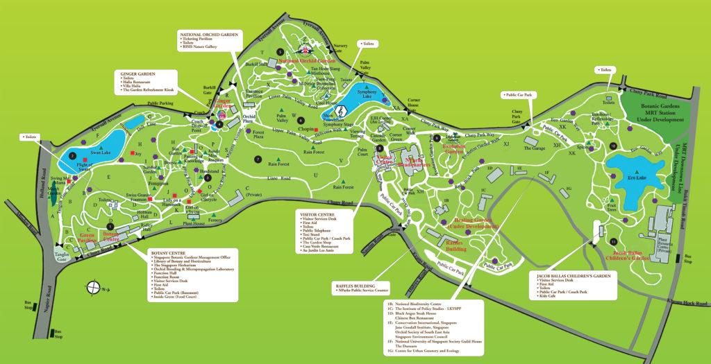 Singapore Botanic Gardens Map