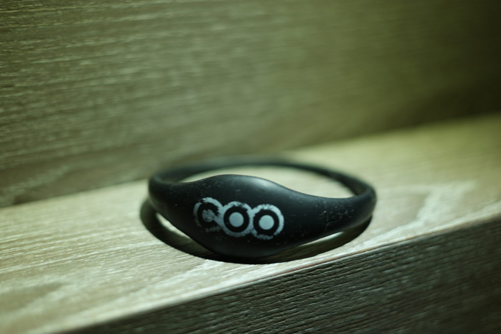 This waterproof wristband functions as your room key. How cool is that!